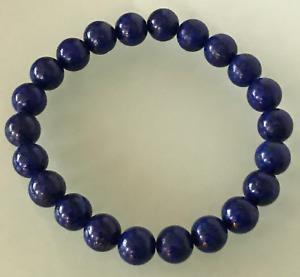 UK. Beautiful Lapis Lazuli Crystal Gemstone 8mm bead Bracelet.Third Eye.pineal