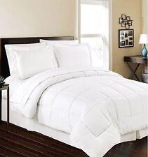 Luxurious Down Alternative 5 Piece Comforter Set - Size King - White - NEW!!!