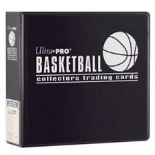"""Ultra Pro 3"""" Basketball Trading Card Collector's Album Black Binder New"""