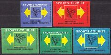 POLAND 1969 Matchbox Label - Cat.Z#919 set, SPORTS-TOURIST foreign and domestic