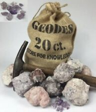 "20 Whole Mexican Amethyst Geodes Purple Crystals 2""- Gift Bag Break Your Own"