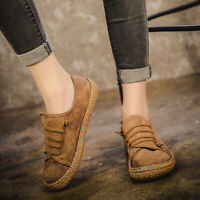 Women Suede Slip On Soft Loafers Lazy Casual Flat Shoes Outdoor Moccasins *