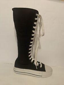 "DEMONIA ""Deviant 301""  Knee High Punk Goth Sneaker Boot Shoe Sz M 4 / W 6"