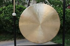 "20"" White chau gong and wood mallet"