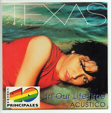 TEXAS In our lifetime + Say what you want LIVE IN SPAIN PROMO CD SINGLE SPANISH