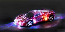 Haktoys Light Up RC Car for Kids,Boys & Girls w/ Spectacular Flashing LED Lights