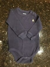 Boys Baby Gap Navy S/S Bodysuit w/ Teddy Bear 6-9 months