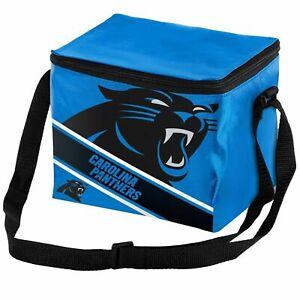 Carolina Panthers NFL  Big Logo Stripe 6 pack Cooler Lunch Box Bag Insulate
