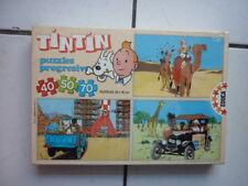TINTIN /  BOITE 3  PUZZLES  EDUCA / SALLENT HERMANOS / 1988  NEUF SOUS CELLOS