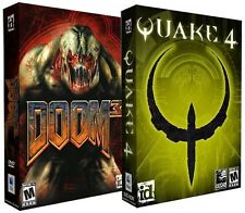 Doom 3 + Quake 4 Mac New in Box Shooter Games