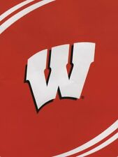 """Wisconsin Badgers Plush 60"""" by 80"""" Twin Size NCAA Blanket-Force Design"""