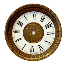 NEW Antique Brass Embossed Clock Dial, Pan and Bezel Assembly (DB-10)