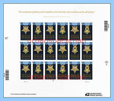 4822-23e Medal of Honor 2013 WWII Army Navy Folio 20 Imperf Stamps No Die Cuts