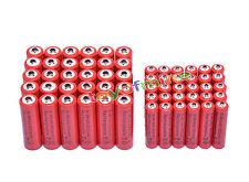 30x AA 3000mAh +30x AAA 1800mAh 1.2V NI-MH recargables batería 2A 3A rojo color