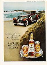 Classic Vintage Car Advertisement Ad J40 1975 Walkers Bourbon 1931 Packard 8