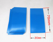 10 Pcs Blue Heat Shrink Perfect For Single 18650 Battery Cell-29.5mm*70mm