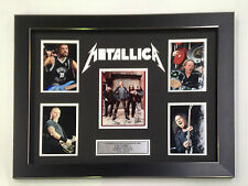 METALLICA PROFESSIONALLY FRAMED, SIGNED PHOTO COLLAGE WITH PLAQUE