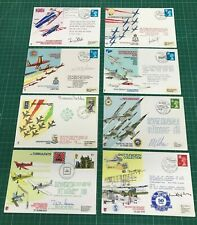 Job Lot x 8 RAF Signed Flown Commemorative First Day Covers QEII Decimal FDC365