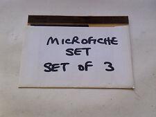 ORIGINAL MICROFICHE SLIDES JAGUAR XJ6 SERIES 3 DAIMLER SOVEREIGN SERIES 3(NJ901)