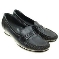 SAS Women's Size 7M Shoes Tripad Comfort Black Leather Slip On Loafers