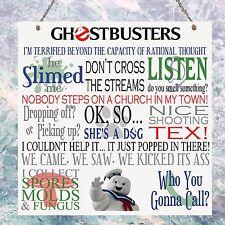 Ghostbusters Pelicula Peli Cotizaciones Regalo De Cumpleaños Presente placa Sign Pared Casa