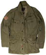 EXTREMELY RARE COLLECTIBLE RALPH LAUREN POLO MILITARY COAT FIELD JACKET US PATCH