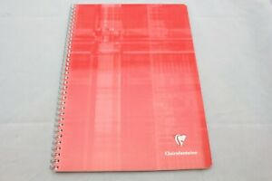 """Clairefontaine Classic Wirebound Notebook  6"""" X 8.25"""" French Ruled Red"""