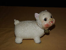 VINTAGE COINS MONEY OLD CERAMIC PIG PIGGY BANK