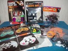 Halloween Pack-Maschere, Zucca KIT, SET DI MAGIA, ragni, ANELLI, Formine per Biscotti.
