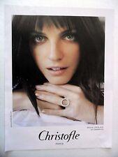 PUBLICITE-ADVERTISING :  CHRISTOFLE Bague or blanc et diamants  2015 Bijoux