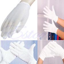 12 Pairs New White Cotton Gloves Moisturising Health Work Hand Protection Safety