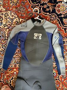 NEW BODY GLOVE Men's 3/2 ARC Wetsuit - XS Xtra Small Grey Blue Black Free Ship
