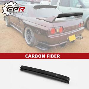 For Nissan Skyline R32 GTR FRD Type Carbon Fiber Rear Spoiler Wing Gurney Flap