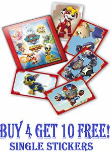 PANINI Paw Patrol Mighty Pups ☆ Single Stickers ☆ (2020)  ☆ Buy 4 Get 10 Free!!