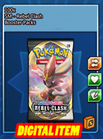 100x Rebel Clash Codes Booster Packs Pokemon TCG Online (PTCGO, Ingame)