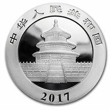 1 Onza de plata - China Panda - 10 Yuanes - 2017