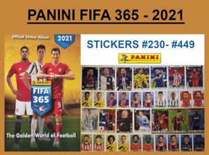 PANINI FIFA 365 - 2021 STICKERS #229 - #449 Haaland - Ansu Fati - Messi - Reyna