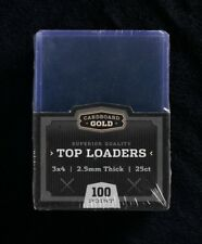(1000) 2 CASES 2.5MM CBG REAL THICK TRADING CARD STORAGE TOPLOADERS 100pt.