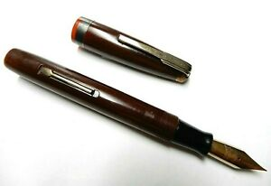 VTG Waterman's Hundred Year Fountain Pen Burgundy works