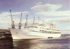 CANBERRA P&O Cruise liner at Southampton Docks Marine Art Greeting Card blank