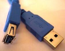 USB 3.0 Kabel Verlängerungskabel 3m Hellblau Verlängerung AST ABU USB Kupplung