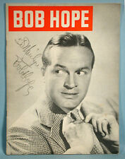 1949 Bob Hope All Star Stage Show Autographed Souvenir Program with Doris Day