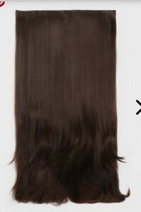 Chocolate Brown Straight 24in Clip In Synthetic Hair Extension BNWT RRP £15