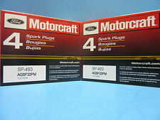 Case 96 Genuine FORD Spark Plugs Motorcraft SP493 OEM# AGSF32PM 4.6L 5.4L V8