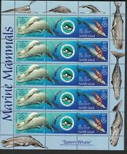 2002 Norfolk Island Sg 813/4 Mnh Block of 10 - Sperm Whale