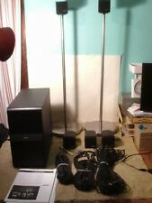 BOSE Acoustimass-6 Single Cube Redline Speakers/Module W/ 2 Stands And Cables