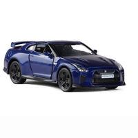 1:36 Nissan GTR R35 Sports Car Model Car Diecast Toy Vehicle Kids Pull Back Blue