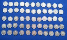 More details for 85 pre 1920 threepence (.925silver) coins.total weight 116 grams