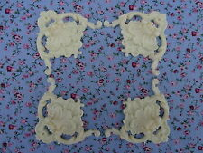 Shabby chic ornate corners X 4 large decorative resin furniture mouldings VOCL