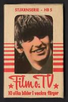The Beatles - Ringo Starr - 1965 Swedish HB Set Unopened Sealed 10 Gum Card Pack